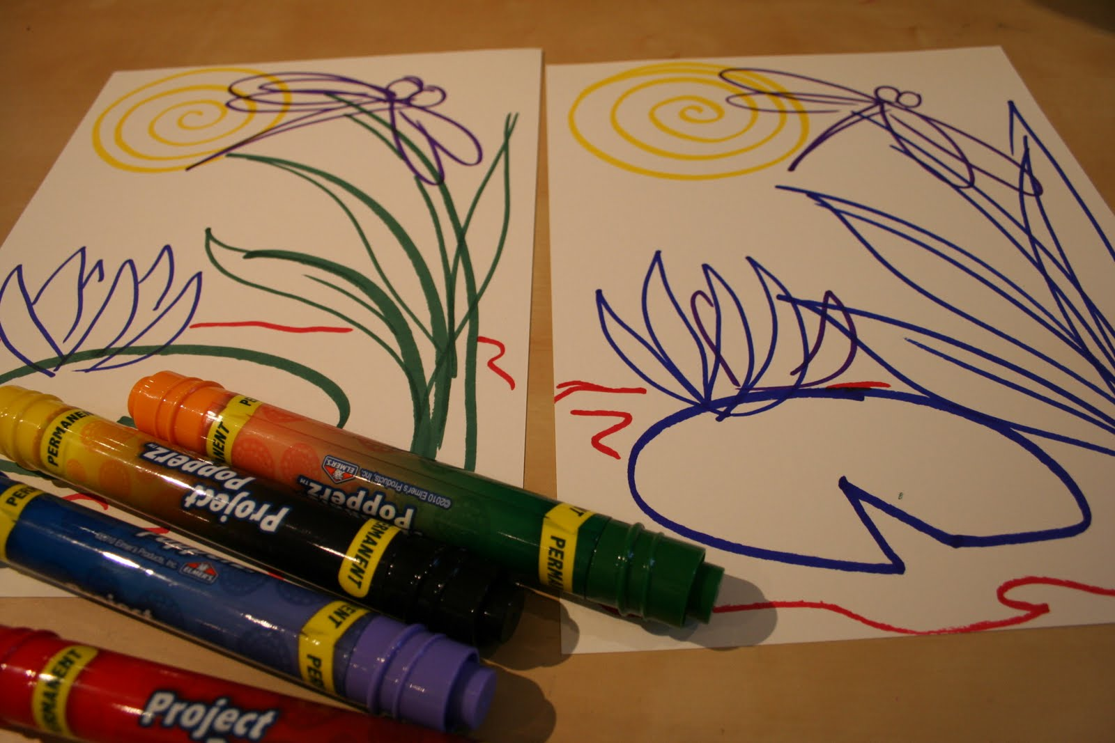 Sharpie Art with Photo Paper - stained glass art project ...