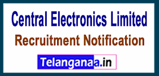 Central Electronics Limited CEL Recruitment Notification 2017 Last Date 30-06-2017