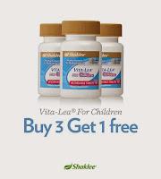 Buy 3 free 1; picky eater; shaklee labuan; shaklee tawau; shaklee beaufort; shaklee kota kinabalu; Shaklee vitamin