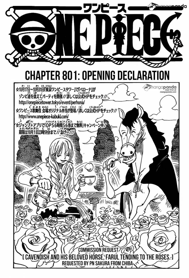 One Piece Ch 801: Opening Declaration