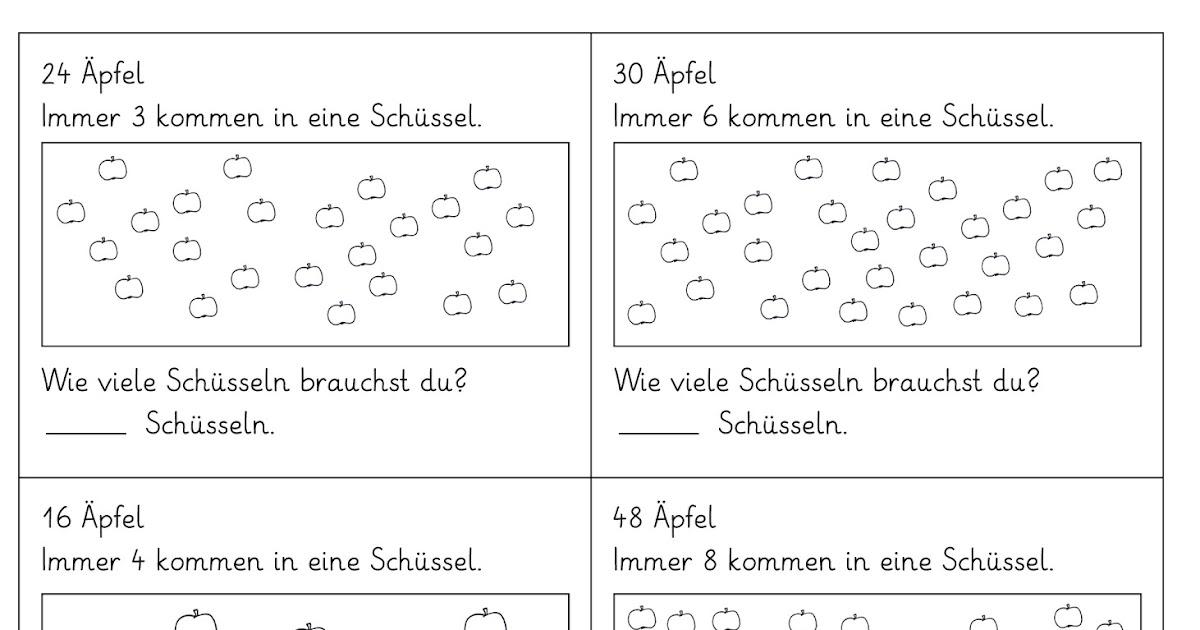 Lernstübchen: 4 Arbeitsblätter zum Aufteilen