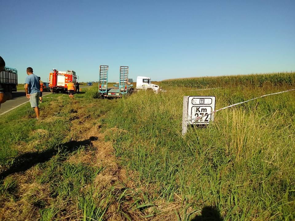 Fatal accidente, conductor de Monte Maíz perdió la vida al chocar de frente con un camión