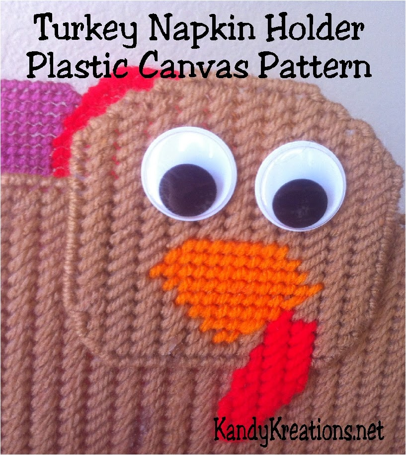 Add a festive touch to your Thanksgiving dinner with this Turkey napkin holder sewn in 7 count plastic canvas.  This free plastic canvas pattern is an easy project to sew and will add a touch of fun to your Thanksgiving party.
