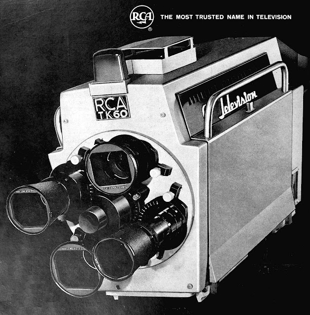 1963 broadcast television camera advertisement