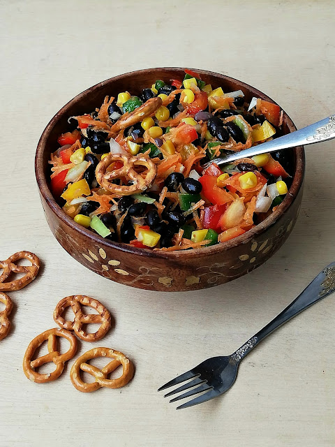 Vegan blackbeans salad
