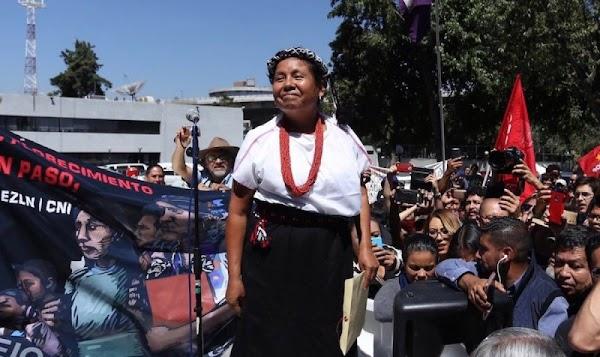 ' No recibiremos ni un peso del INE'; Marichuy se registró como candidata independiente.