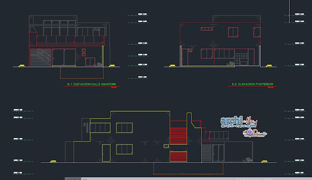 House on the beach in AutoCAD