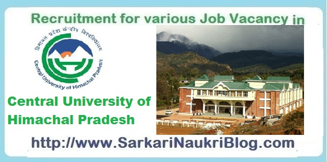 Naukri Vacancy-Recruitment CUHP Dharamshala