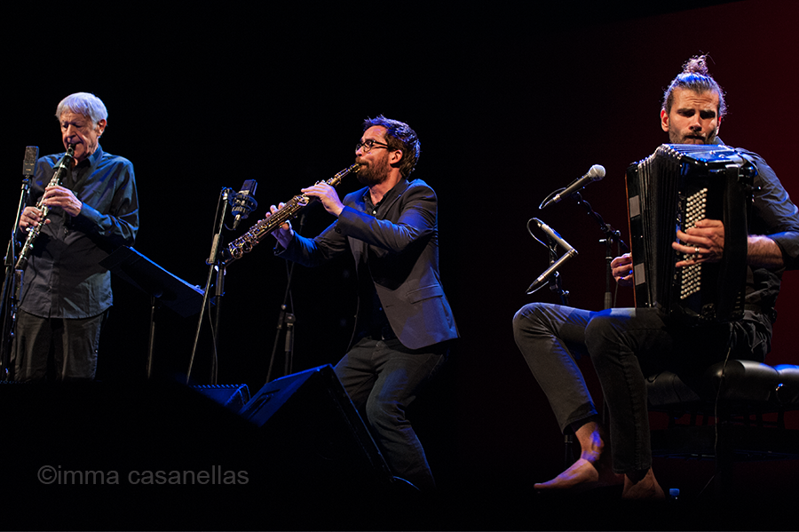 Michel Portal, Émile Parisien i Vincent Peirani, Teatro Victoria Eugenia, Donostia, 29-juliol-2018