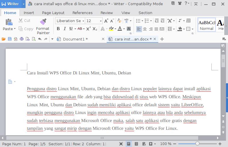 Cara Install WPS Office Di Linux Mint, Ubuntu, Debian