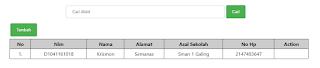 pencarian menggunakan php dan query where
