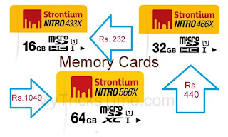Nearbuy loot - Buy Strontium Nitro UHS1 433X MicroSDXC Card 16GB at Rs.232 and 32GB at Rs.440 and 64GB at Rs.1049 Only