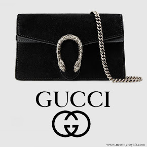 Meghan Markle carried GUCCI Dionysus suede super mini bag