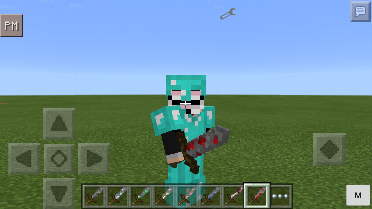 how to make a sword in minecraft pe