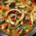SAUSAGE AND RED PEPPER SOUP WITH EGG NOODLES