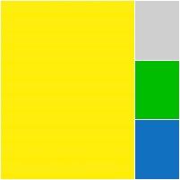 illustração da bandeira do Brasil, azul, verde e amarelo