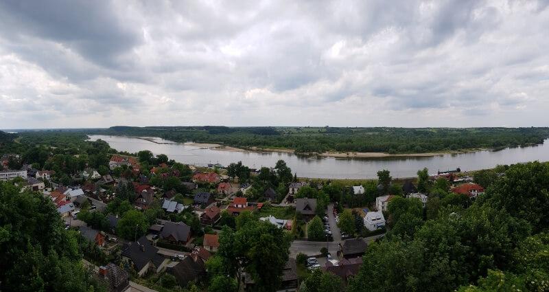 vistas del río Vístula desde el castillo