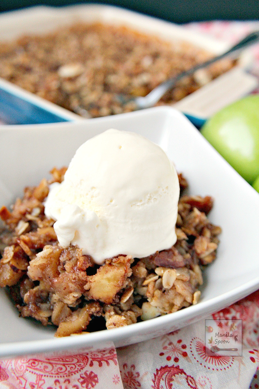 Sweet, fruity with a hint of lemony tang and perfectly spiced with cinnamon and nutmeg this Apple Crisp is simply the best! Completely gluten-free, too.