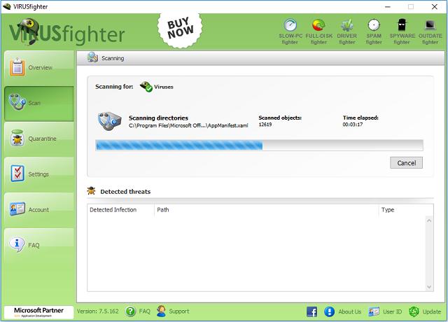 تحميل برنامج الحماية VIRUSfighter 7.5.162