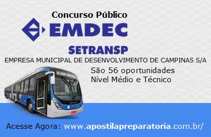 EMDEC concurso Campinas