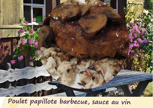 cuisse de poulet cuit au barbecue en papillote, sans gluten