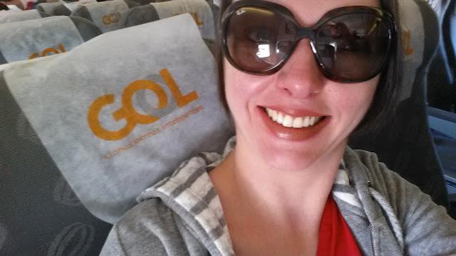 Selfie viajando com a Gol!
