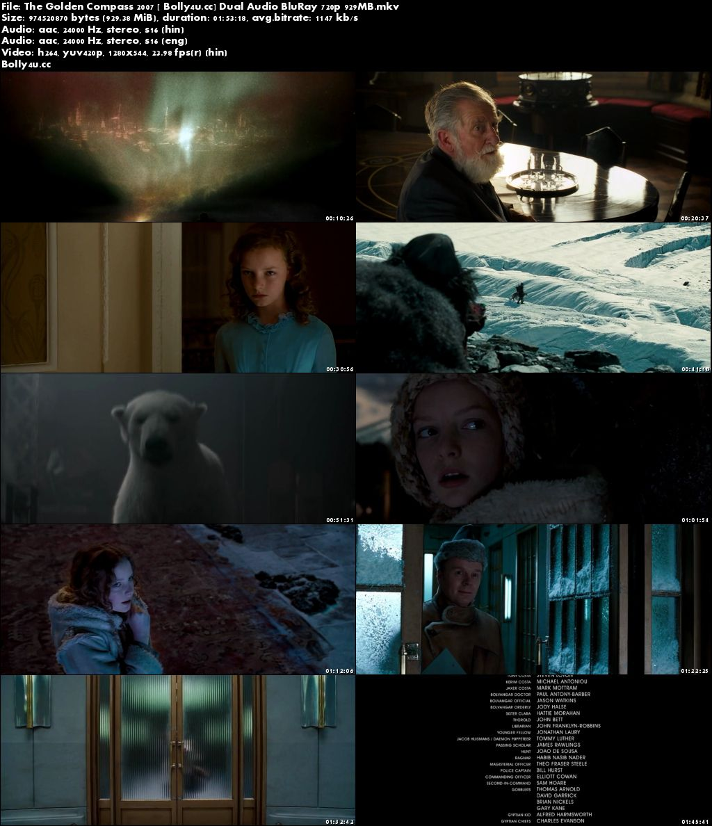 The Golden Compass 2007 BluRay 900MB Hindi Dual Audio 720p Download