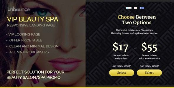 Beauty & SPA Coupons Offer Landing Page Template