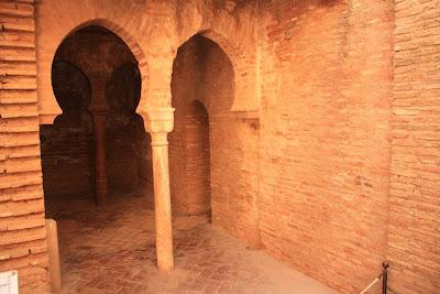 Arab bath or hammam inside La Alhambra de Granada