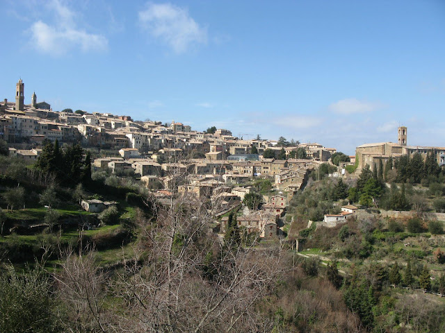 View towards Montalcino's historic town center