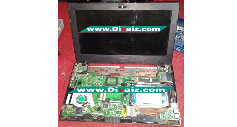 Cara memperbaiki Laptop ASUS 1225B mati total/matot