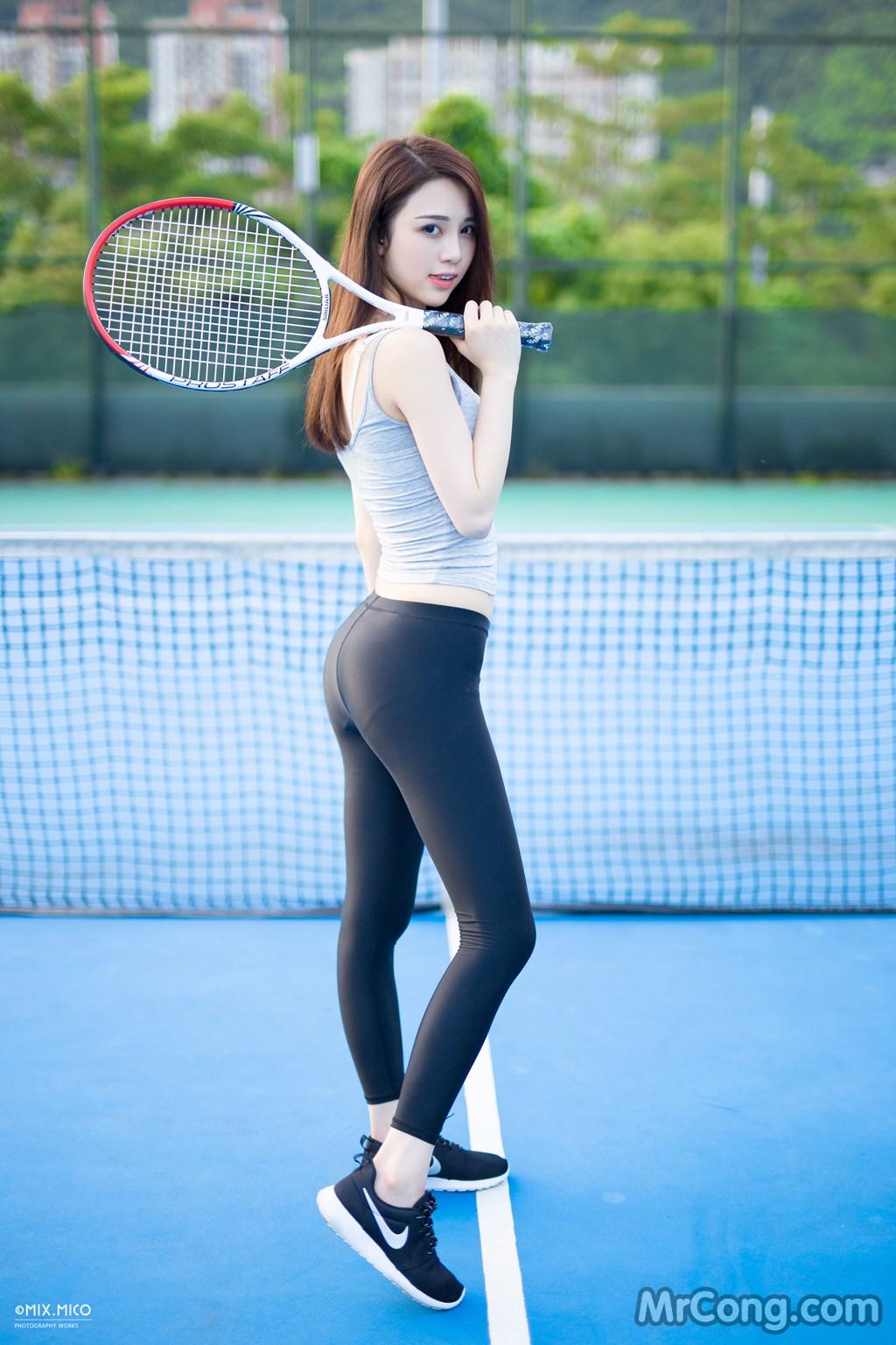 Ngắm thiếu nữ xinh tươi khoe dáng trên sân tennis với trang phục bó sát (33 ảnh)