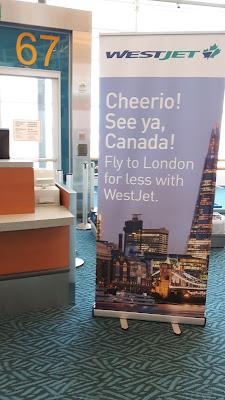 westjet inaugural london flight