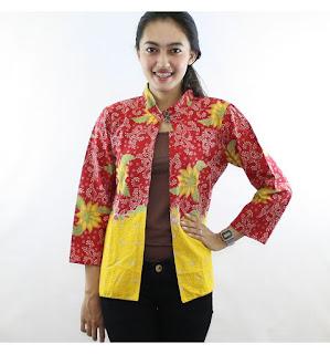 Model Baju Batik Kombinasi Bolero Terbaru