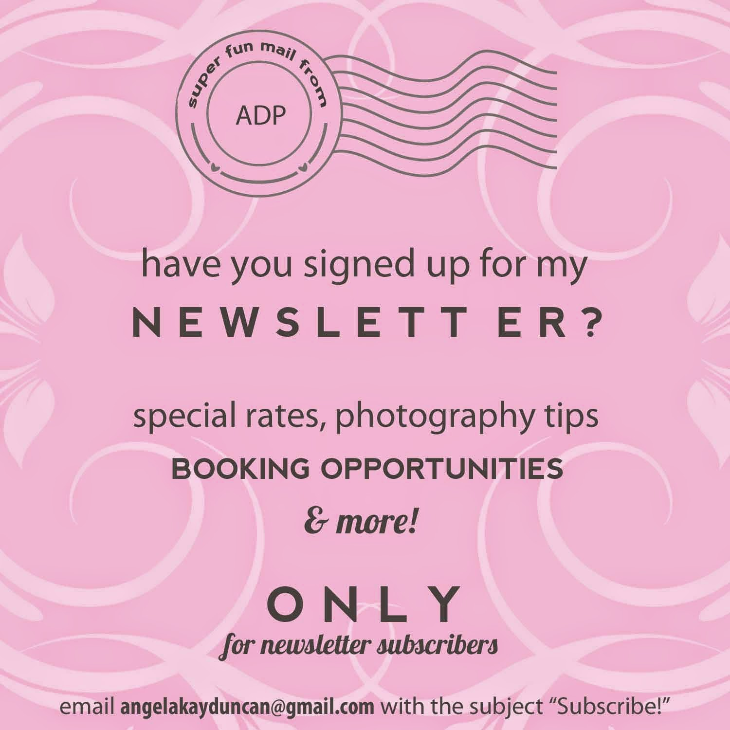 Monthly Newsletter And I Promise Your Email Address Won T Be Sold Fill Tons Of Hey You Should Book A Session