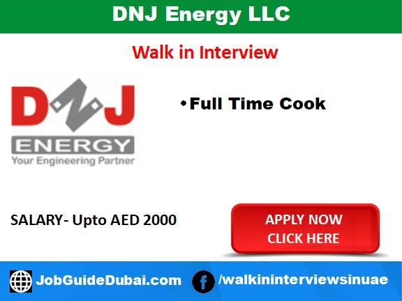 Job in Dubai for Cook at Al Qusais
