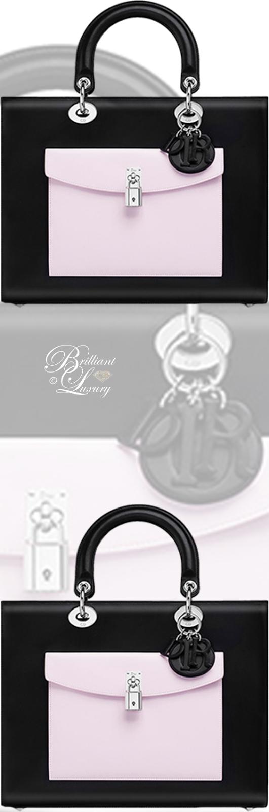 Brilliant Luxury ♦ Dior Lady Dior 'Black Lambskin With Contrasting Pockets' Bag