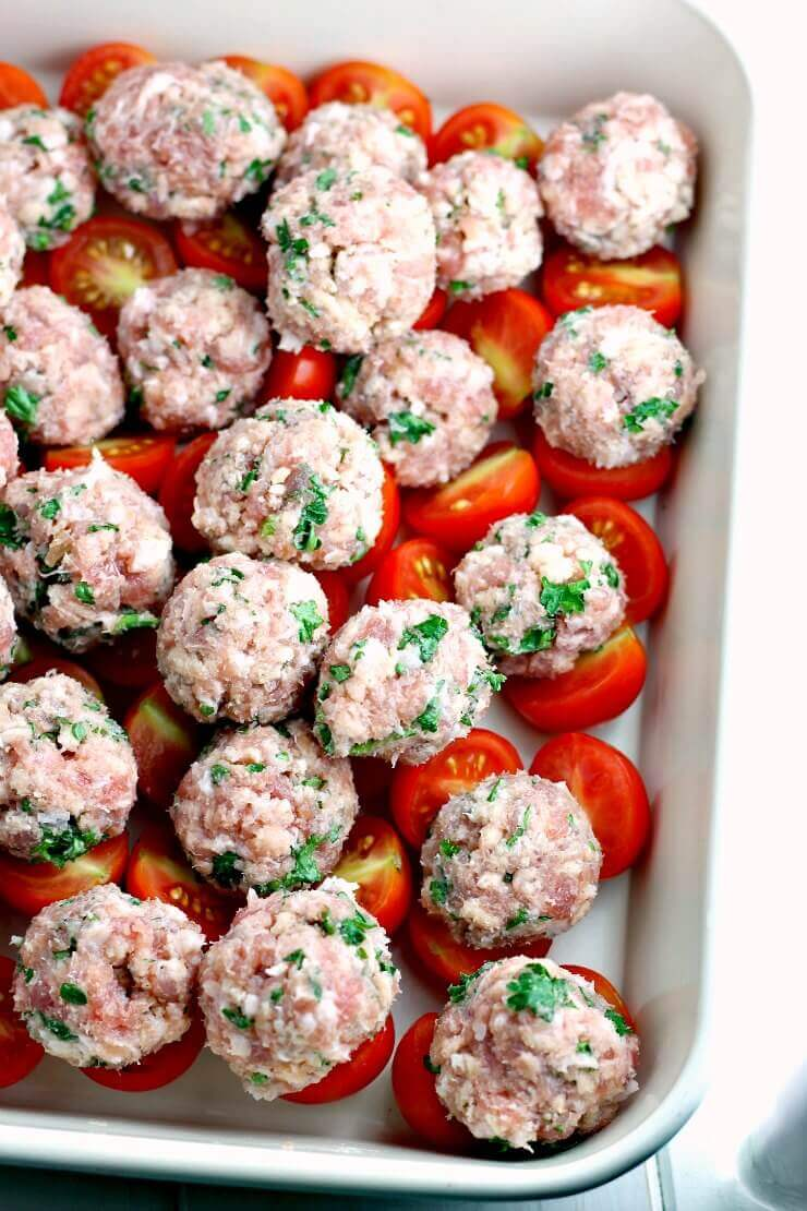 Sausage Meatballs ready for cooking