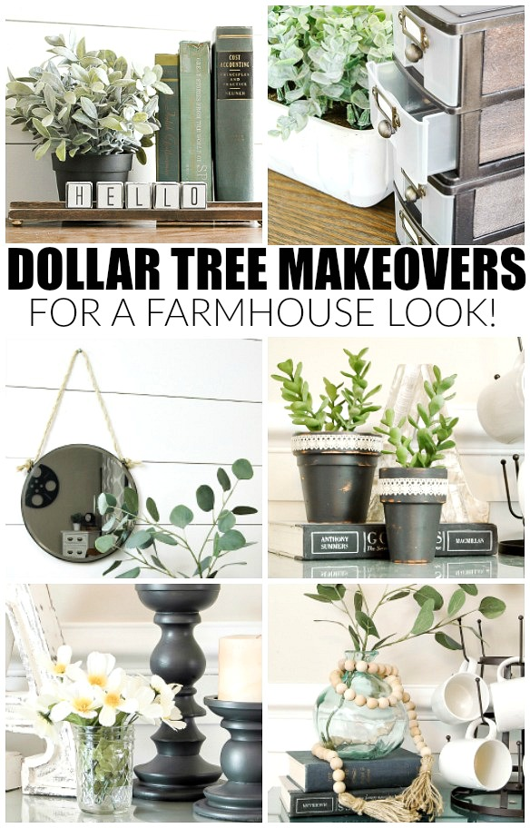 How to easily get the farmhouse look with dollar tree for Cheap house stuff