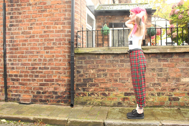 Ark Tartan Trousers Topshop BodySuit Alternative Fashion