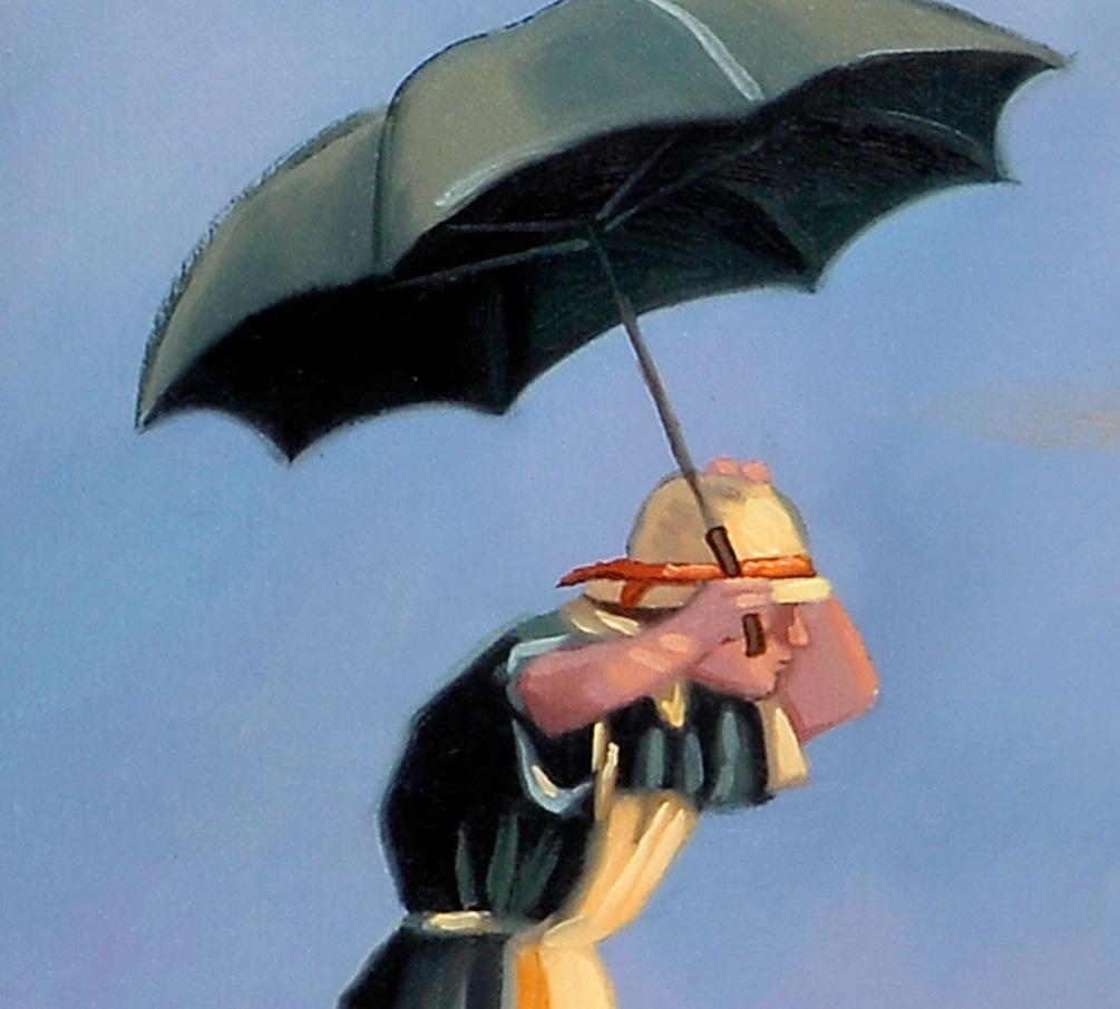 c90eb9a569e The Singing Butler Jack Vettriano Umbrella Love Dancing Beach Rain Art  Print Poster Wall Decor For