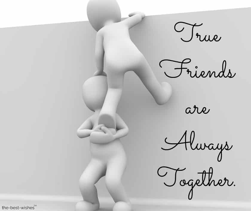 true friends are always together