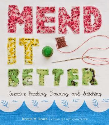 "Book Cover: ""Mend It Better"" with art of a needle and thread"