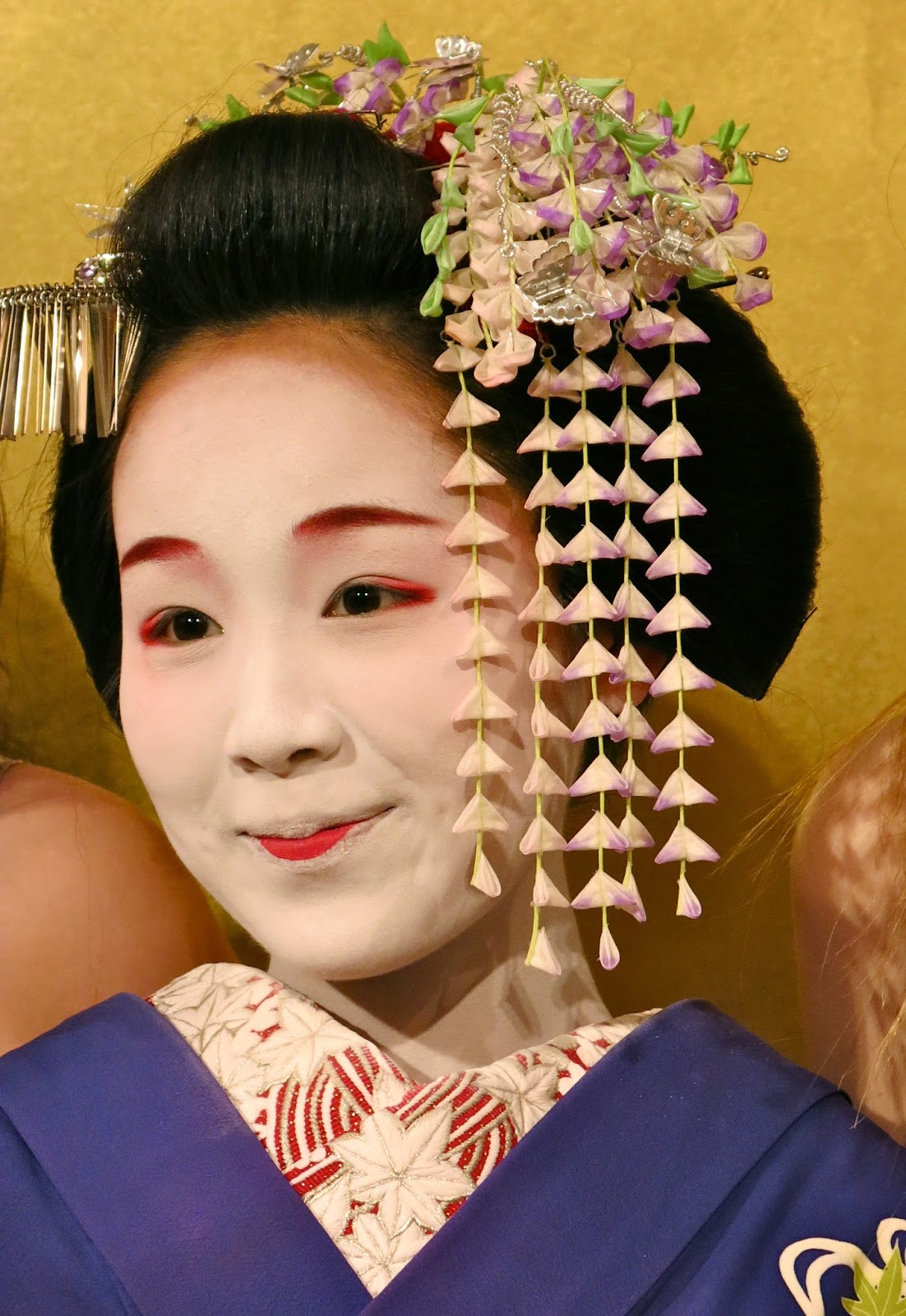 Once They Become Geisha They Can Wear A Wig Which Is What This Lady