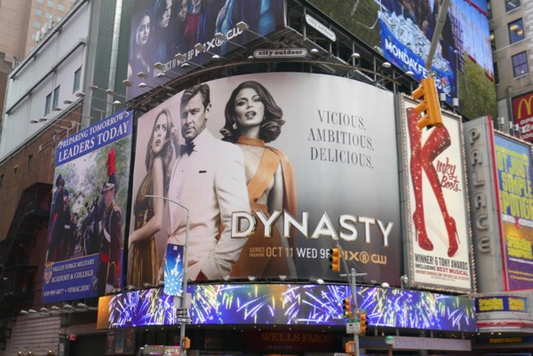 Dynasty CW remake billboard Times Square