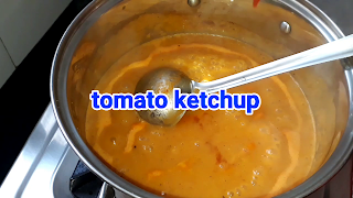 image of adding tomato ketchup in mixer