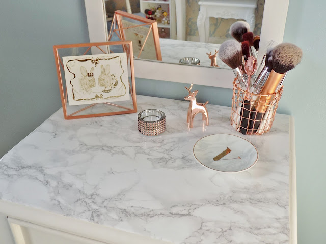how to make a marble topped table