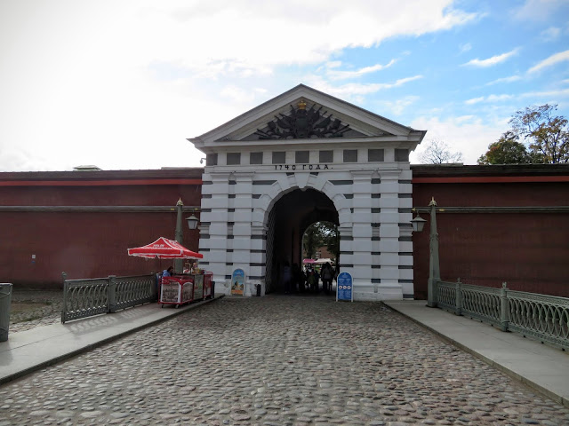 Entrance to Peter and Paul Fortress in St. Petersburg, Russia