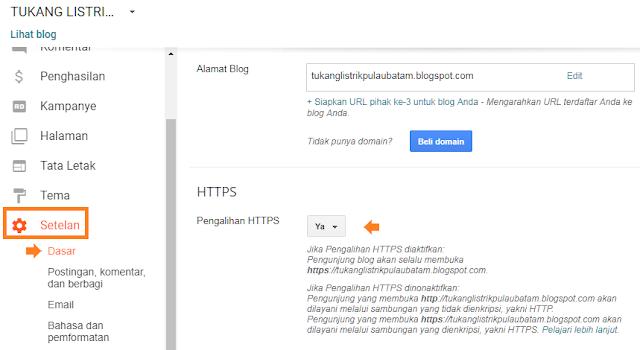 Cara menerapkan https di blogger