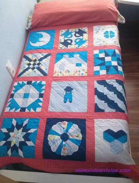colcha en patchwork